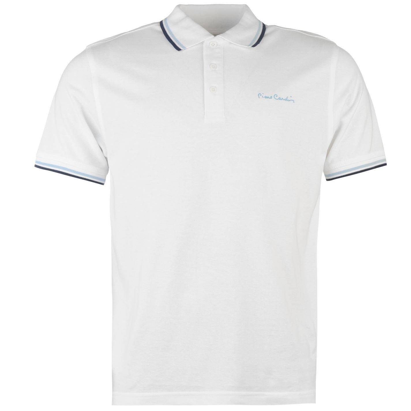 Pierre Cardin Tipped polo camiseta para hombre camiseta blanca Top ...