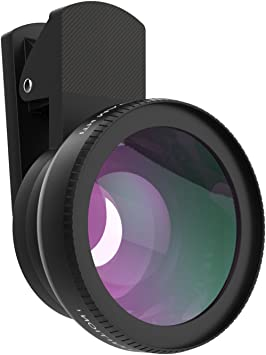 MoKo Universal Phone Camera Lens Kit, Clip-On 0.45X Super Wide Angle Lens and 15X