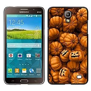 // PHONE CASE GIFT // Duro Estuche protector PC Cáscara Plástico Carcasa Funda Hard Protective Case for Samsung Galaxy Mega 2 / Orange Pumpkin Evil Holiday /