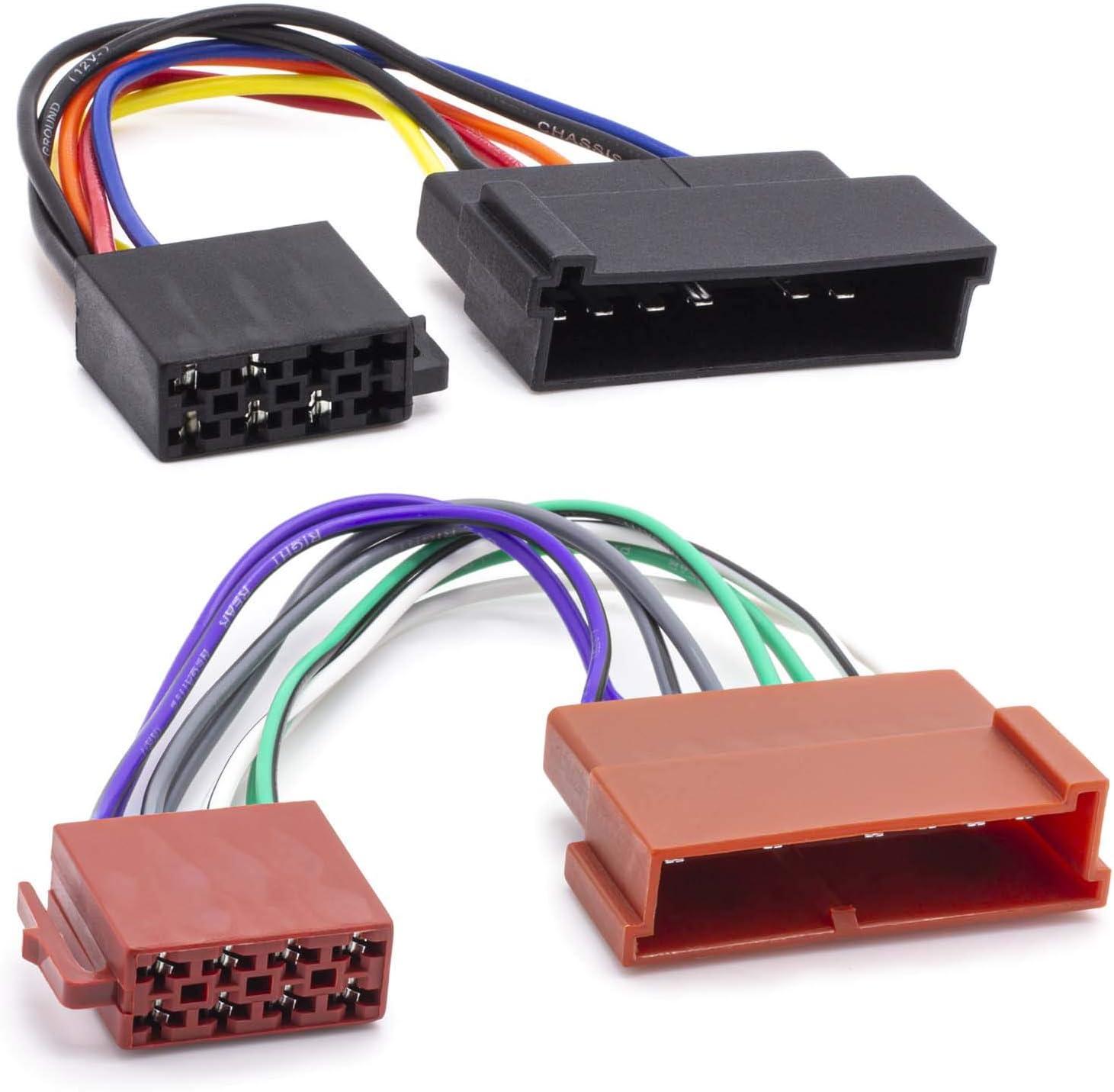 Din Iso Radio Adapter Kabel 16 Pol Auto 8 Pin Buchse Norm Stecker Hifi