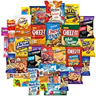 Snacks Generation Mix Variety Pack of Chips, Cookies, Candy, Care Package to Friends and Family (40 Count)