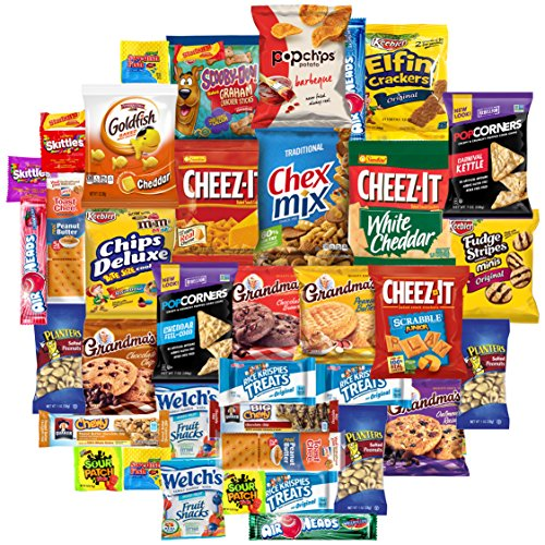 Snacks Generation Mix Variety Pack of Chips, Cookies, Candy, Care Package to Friends and Family (40 Count) (Care Snack)