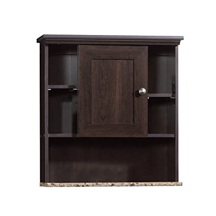 Amazon.com: Sauder Wall Cabinet, Cinnamon Cherry Finish: Kitchen ...