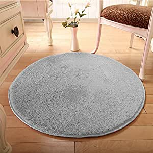 Alfombras redondas shaggy y alfombra moderna de la manera - Alfombras comedor amazon ...