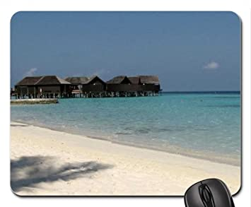 Casetas en huvahendhoo isla, Maldivas ratón, Mousepad (playas ratón): Amazon.es: Oficina y papelería