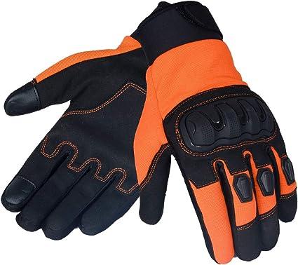 Jet Motorradhandschuhe Für Den Sommer Belüftet Harte Knöchel Touchscreen Handschuhe Herren Atv Reiten Ecco Klein Orange Sport Freizeit