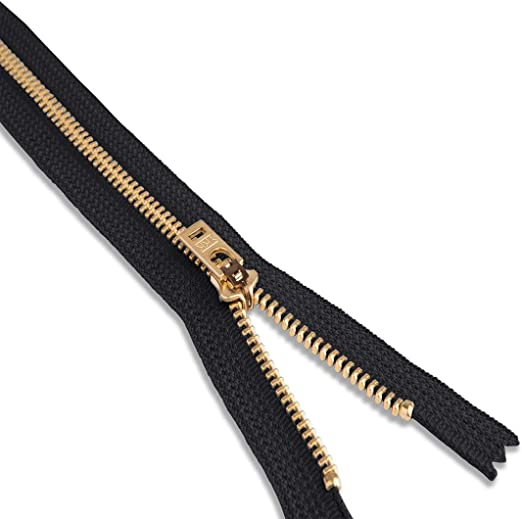 6 inches Jacket Zippers YKK/® #5 Antique Brass Custom Length Zipperstop Wholesale YKK/® Metal Teeth Separating for Crafters Special Color Black Olive #567 Made in USA