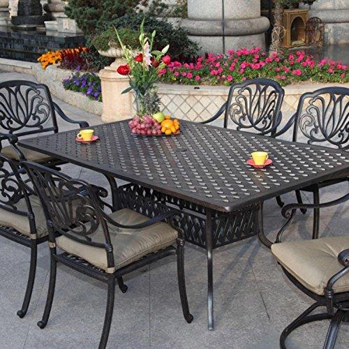 Darlee Elisabeth Cast Aluminum Patio Dining Set – Seats 6 For Sale