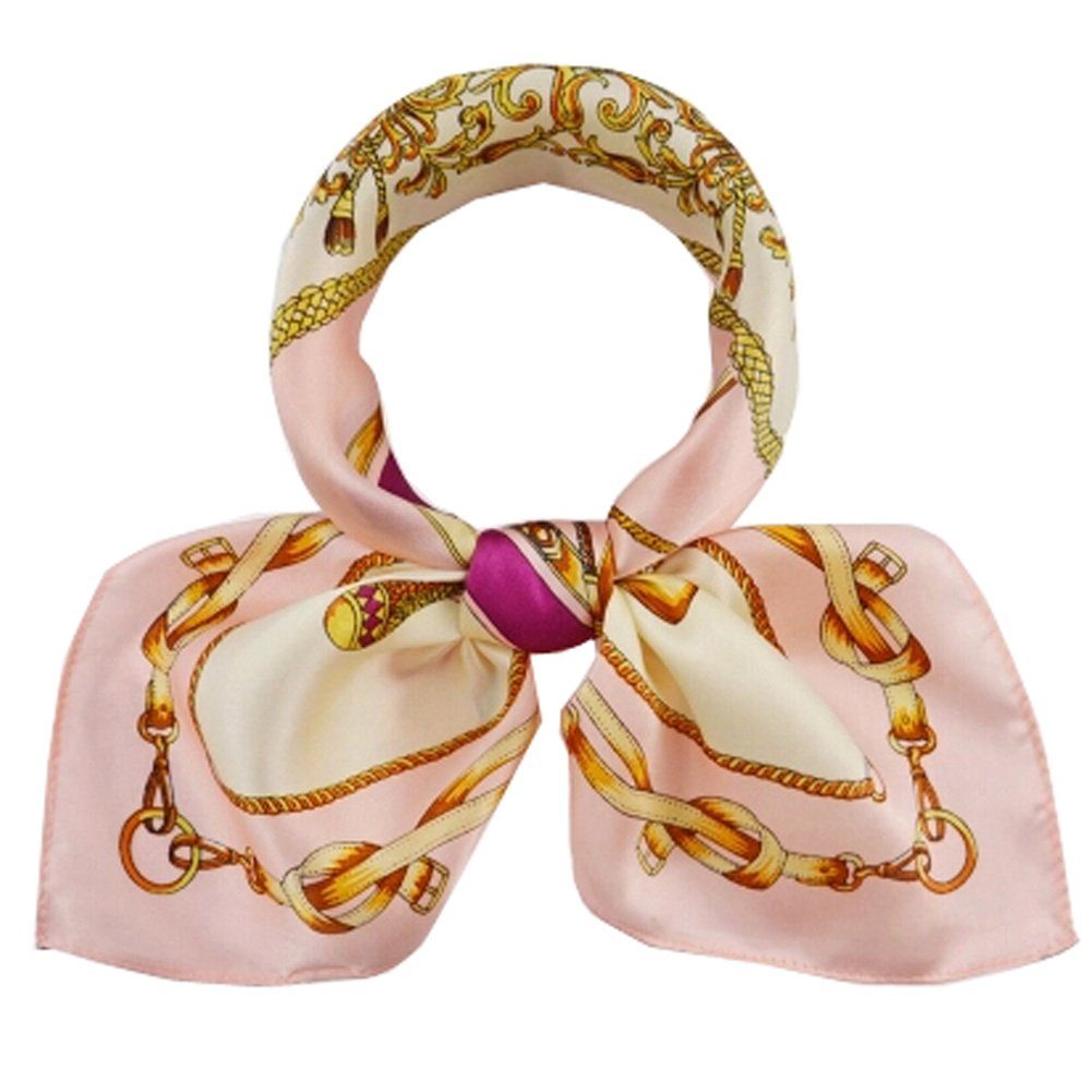 High-gradel Painting Small Squares Female Silk Scarves,A Chano Pozo,Pink