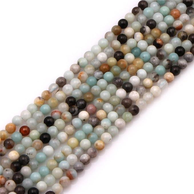 4MM Genuine Peruvian Amazonite Beads Light Green Grade A 115671-3902 Natural Gemstone Full Strand Round Loose Beads 15
