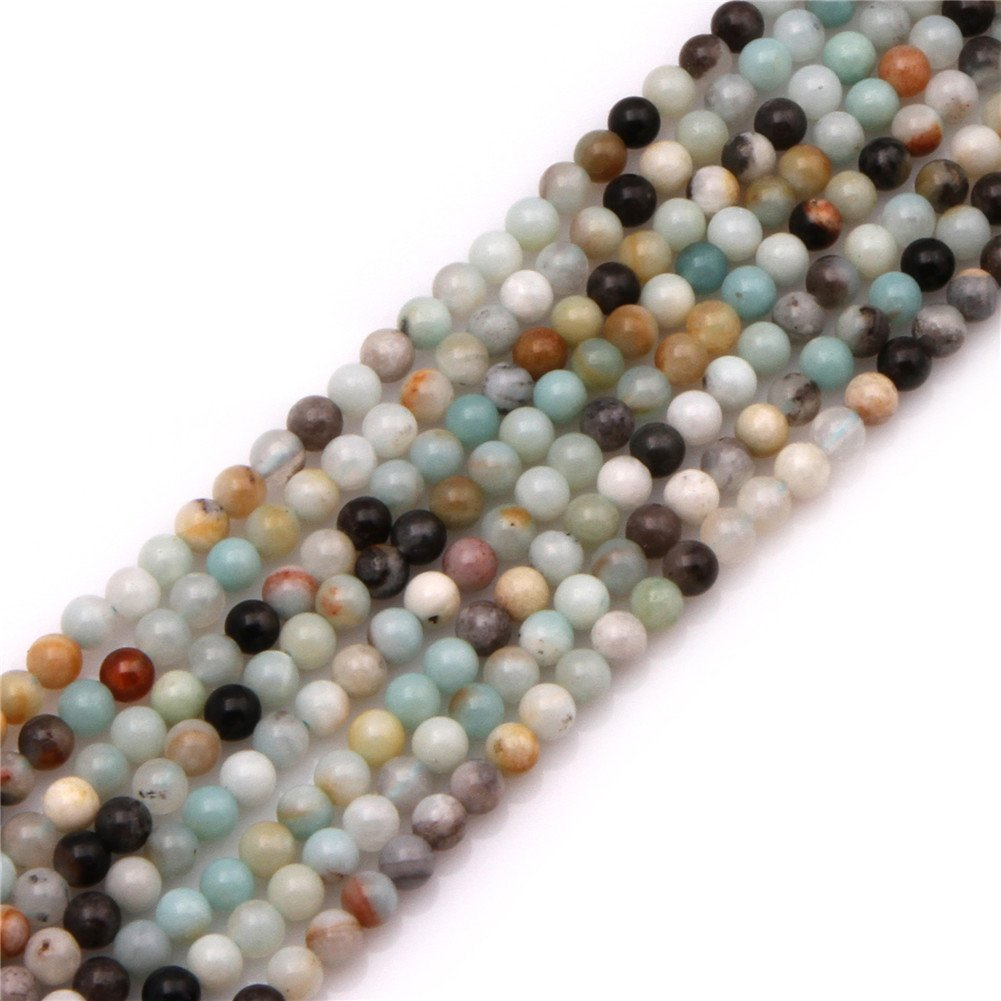 4mm Round Amazonite Stone Gemstone Beads Strand 15jewelry making beads by Sweet & Happy Girl's Gemstone Art Beads Sweet & Happy Girl's ART9019