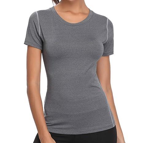 Joyshaper Sport T-Shirt Damen Shortsleeve Top Kurzarm Oberteile für Joggen, Fitness, Yoga oder Alltägliche Bekleidung