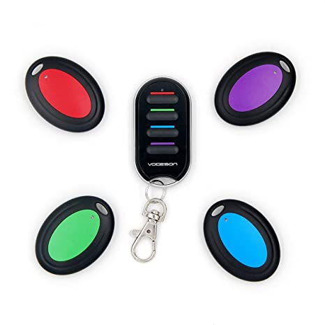 Review Vodeson Wireless RF Wallet Locator Key Finder, Remote, Wallet, Pet, 1 Portable Transmitter, 4 Receivers.