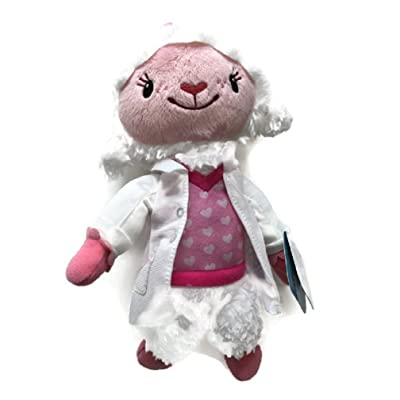 Disney Doc McStuffins Toy Hospital Lambie Plush Bean with Lab Coat 9-inch: Toys & Games