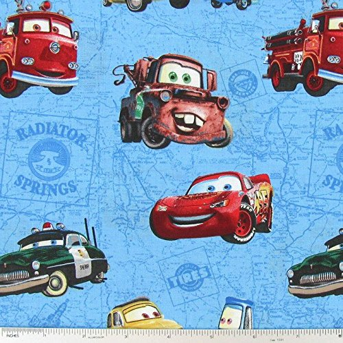 Disney Cars Cotton Fabric - 1/2 Yard - Disney