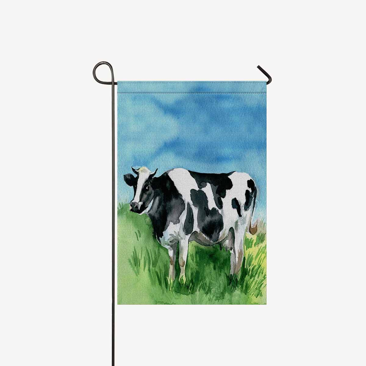 Amazon Com Interestprint Garden Flag House Banner Watercolor Dairy Cow Cattle Funny Animal Decorative Yard Flag For Wishing Party Home Outdoor Decor Polyester 12 X 18 Without Flagpole Garden Outdoor