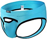 ONEFIT Hot Men Big Underwear Transparent Ultra-Thin Breathable Sky Blue Small