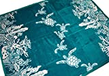 Hawaiian See Turtle Soft Micro Plush Throw Heavy Weight Warmth Blanket 50'' x 60'' (Turquoise)