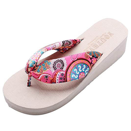 Yiiquan Damen Sommer Plateau Flip Flops Schuhe Sandalen Innen & Outdoor Zehentrenner Beige #1 CN 36/EU 35 vbIiZ