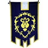 Horde Alliance Badge Banner Flag Orc Emblem Poster (Blue)