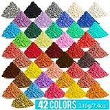 [210 Gram / 7.1 Ounce] Cosmetic Grade Natural Mica Powder for Soap Making Dye Kit,Powdered Pigments Set,Bath Bomb Dye Colorant,Makeup Dye Resin Dye,Eye Shadow, Blush,Nail,Jewelry,Craft
