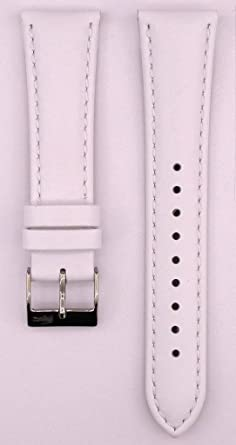3942584d78504 20mm White Leather Watch Strap Compatible Lacoste 2000459: Amazon.co ...