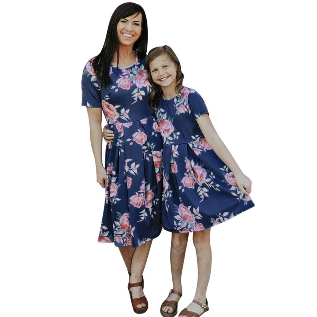 e1ccb12843984 Amazon.com : Hongxin Family Matching Dresses, Mom&Me Baby Kids ...