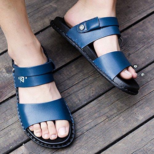 Peep Blue De Aire Al Antideslizantes Playa Zapatos Zapatillas Para Viaje Sandalias Transpirables Baño Libre Hombre Toe Verano xBXXCaw