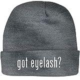 Shirt Me Up got Eyelash? - A Nice Beanie Cap, Grey, OSFA