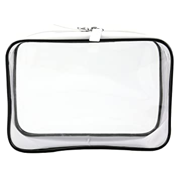 a7553769bf40 Amazon.com   Waterproof Clear PVC Zipper Toiletry Bag Travel Kit Luxury  bags Makeup Cosmetic Pouch for Women   Beauty