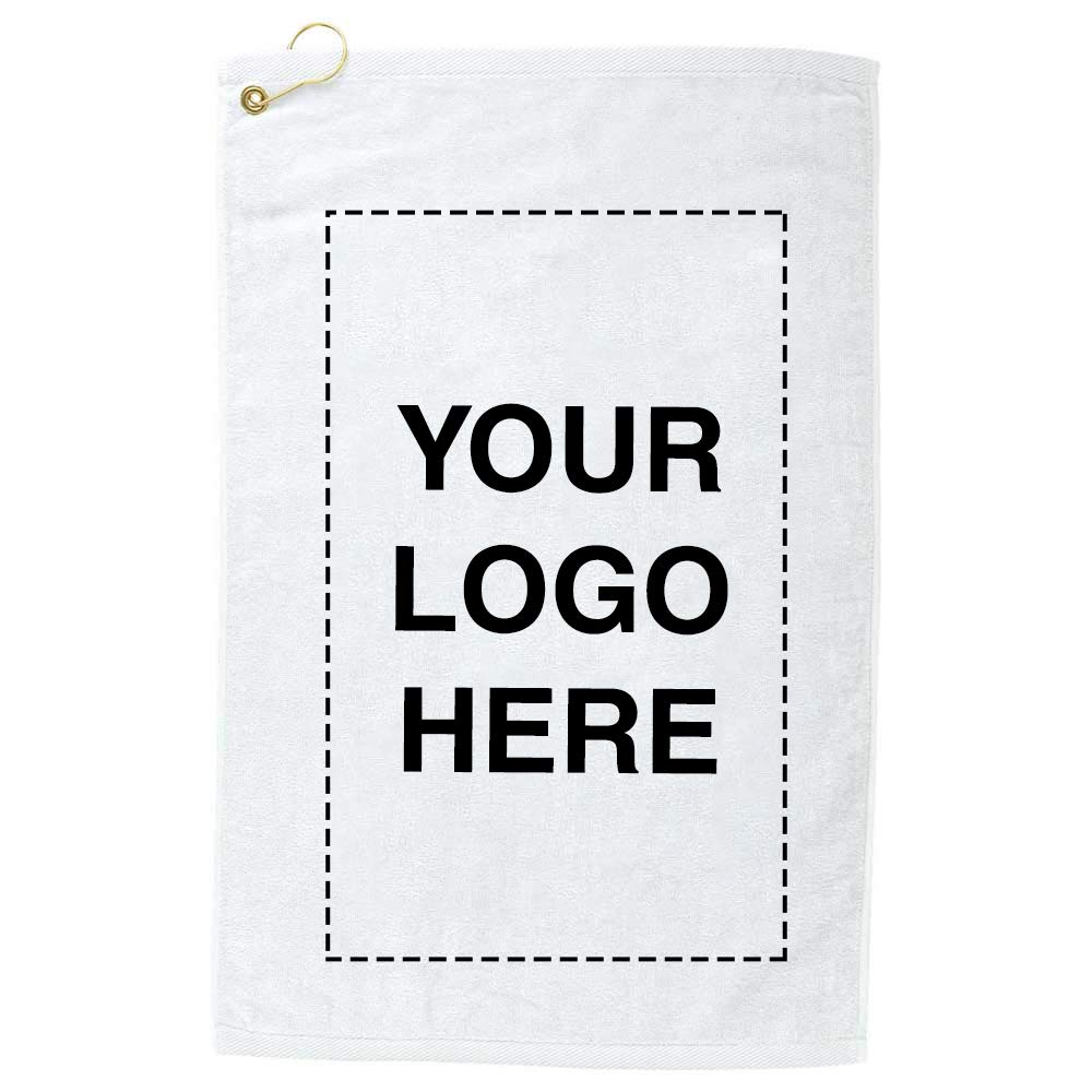 Promo Direct Terry Cotton Golf Towel 36 Qty | 8.07 Each | Customization Product Imprinted & Personalized Bulk with Your Custom Logo