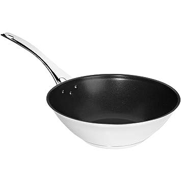 Iittala Töpfe iittala 730028 all steel wok beschichtet ohne deckel 28 cm amazon