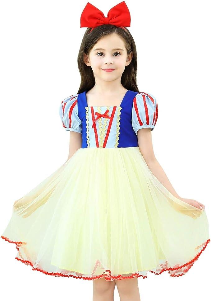 Le SSara Niñas Princesa Nieve Traje Blanco Disfraces Hadas ...