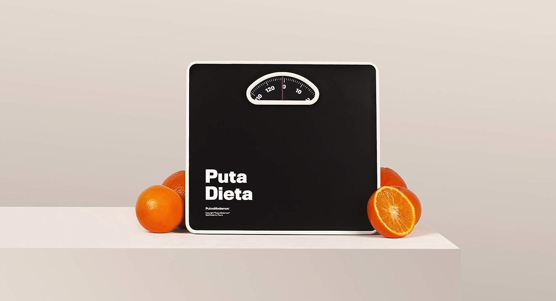 PM0866 Putos Modernos - Fisura. Báscula de Baño Analógica Puta Dieta. Color Negro. 130 kg. Mecánica. La Puta Báscula.: Amazon.es: Salud y cuidado personal