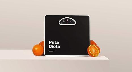 Báscula de Baño Analógica Puta Dieta. Color