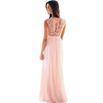 dfe5642a66 MisShow Lace Chiffon Prom Bridesmaid Dresses Long 2019 Formal Evening Gowns