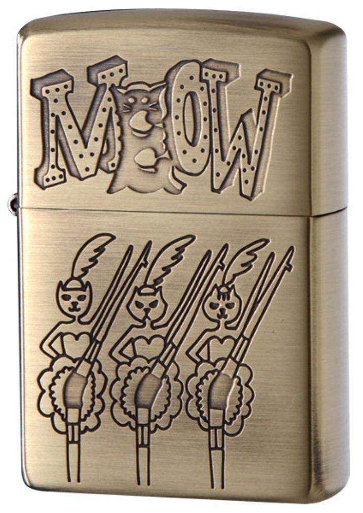 ZIPPO(ジッポー) ライター ネコ MEOW ブラス 古美 205-MEOW B06XGBCFRQ