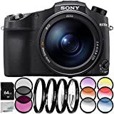 Sony Cyber-shot DSC-RX10 IV Digital Camera 6PC Accessory Bundle – Includes 64GB SD Memory Card + 3PC Filter Kit (UV + CPL + FLD) + MORE