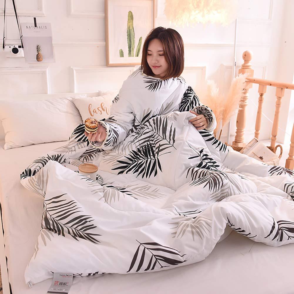 LINLIN Lazy Quilt Mit Ärmeln Um Eine Warme Winterdecke Gegen Tritte Zu Tragen,E,150  220CM