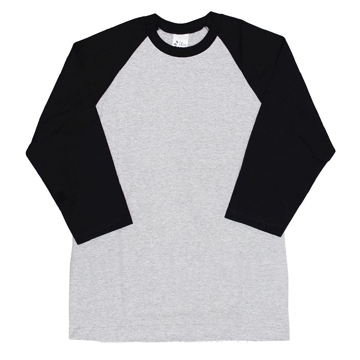 cheap for discount 1b325 0cfbe low-cost 3 4 Sleeve Plain T-Shirt Baseball Tee Raglan Jersey Sports