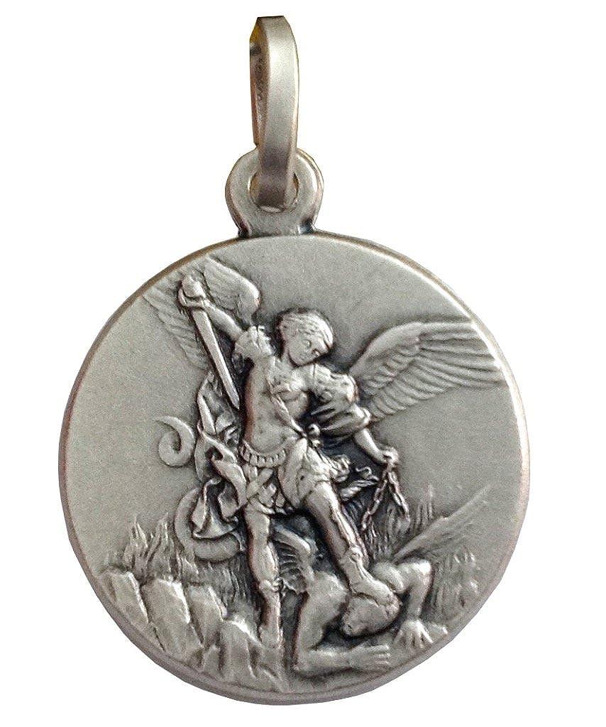 925 Sterling Silber Heilige Michael der Erzengel Medaille - Der Schutzheiligen Medaillen Mr16