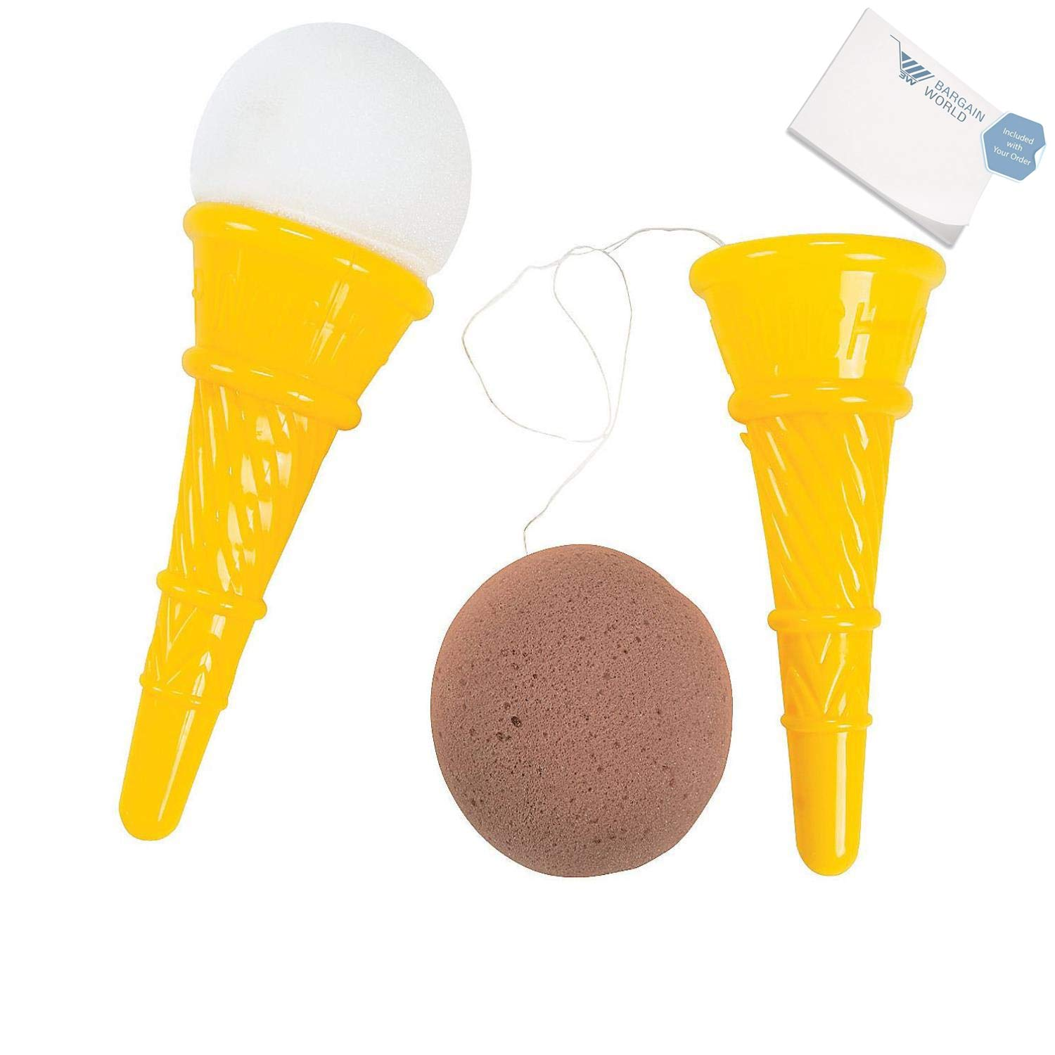 Bargain World Plastic Jumbo Ice Cream Cone Shooter (With Sticky Notes)