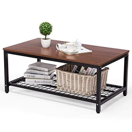 Amazon Artist Hand Coffee Table Living Room Industrial With Storage For Office Decor Retro Brown Kitchen Dining
