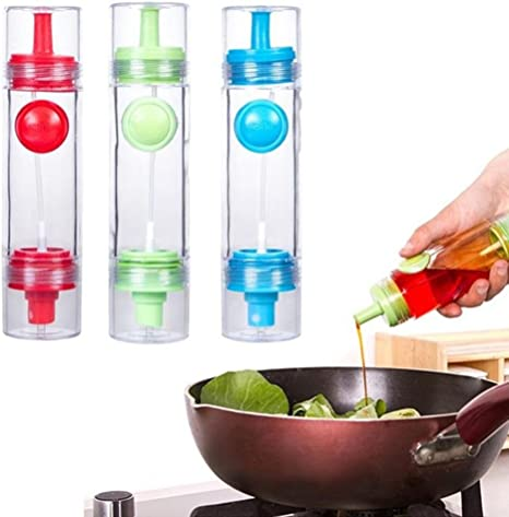 BW#A 2 in 1 Cooking Olive Oil Sprayer Dispenser Cruet Kitchen Pastry Tools