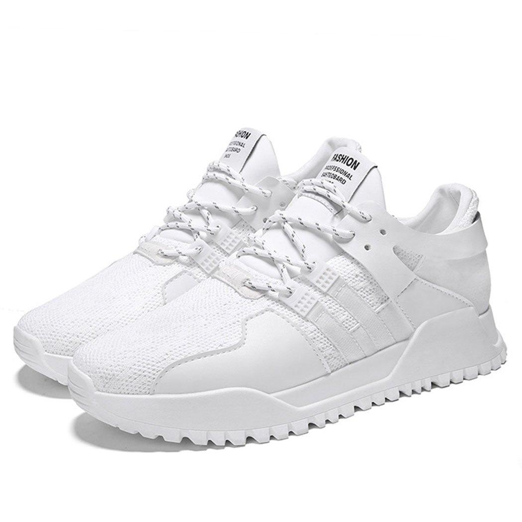 GAOLIXIA Zapatos de Hombre Primavera Otoño Zapatos Deportivos Zapatillas de Deporte Corrientes Tendencia a Volar Tela de Moda Transpirable Zapatos Bajos (Color : Blanco, Tamaño : 39) 39|Blanco