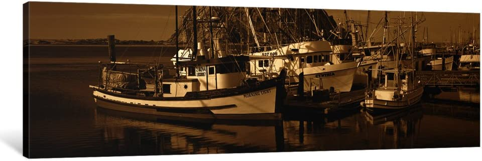 Icanvasart 1 Piece Fishing Boats In The Sea Morro Bay San Luis Obispo County California Usa Canvas Print By Panoramic Images 36 By 12 0 75 Deep Posters Prints
