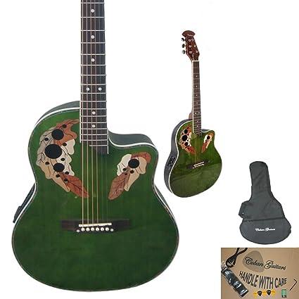 Coban - Guitarra electroacústica (ecualizador, bolsa, púas y cable incluidos), diseño