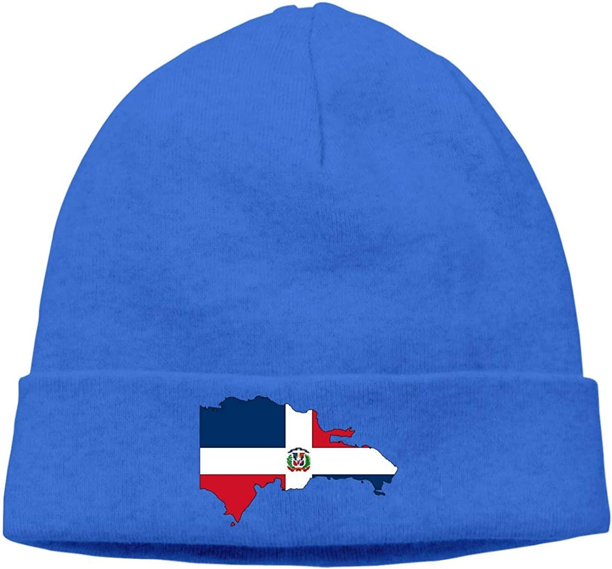 hgdfhfgd Thick Knitting Hat for Mens and Womens Dominican Republic Map Flag Ski Cap Keep warm 19677