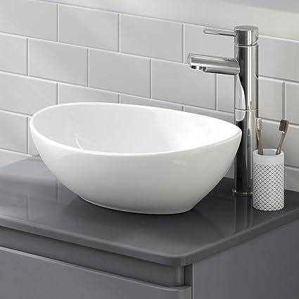 Remarkable Lexonelec Countertop Basin Bathroom Wash Basin Oval Round Bowl Top Ceramic Basin Sink Modern Design Oval Round Interior Design Ideas Gentotryabchikinfo