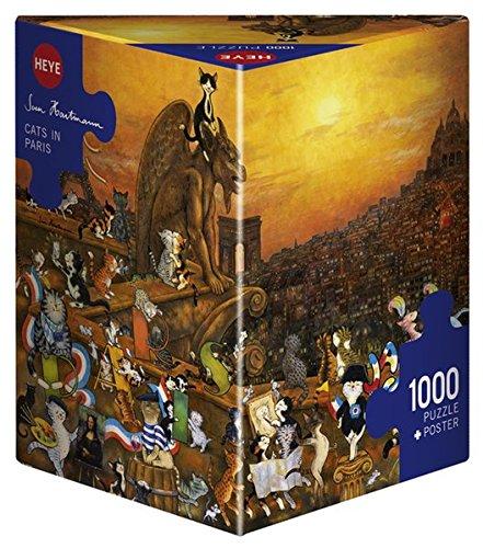 Heye 29750 - Triángulo Puzzle, gatos en París triangulares 1.000 partes, Sven Hartmann, multicolor: Sven Hartmann: Amazon.es: Juguetes y juegos
